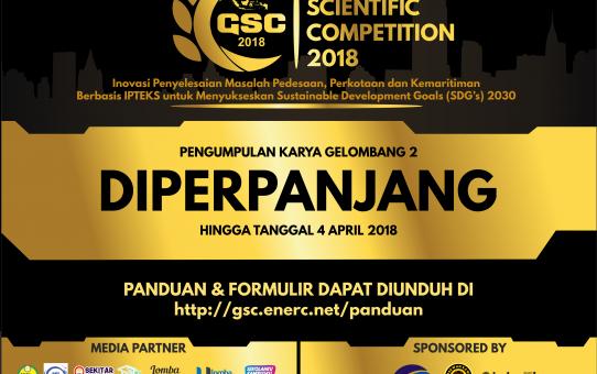 Perpanjangan Pengumpulan Karya Gelombang 2 Lomba Karya Tulis Ilmiah Nasional GSC UNNES 2018